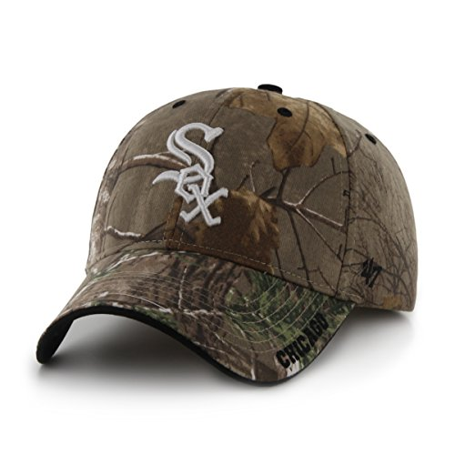 MLB Chicago White Sox '47 Frost MVP Camo Adjustable Hat, One Size Fits Most, Realtree Camouflage
