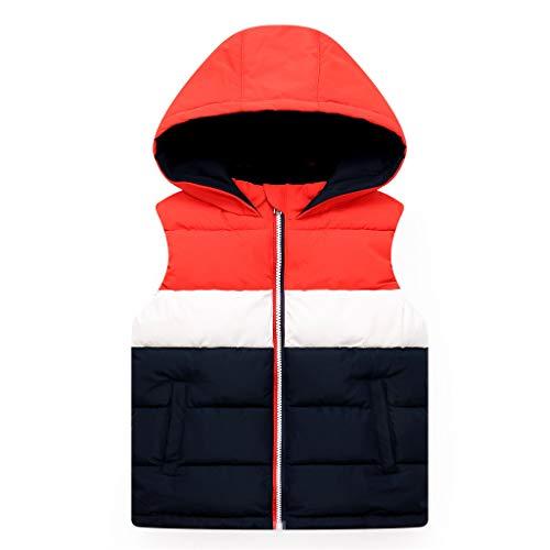 Kids Gilets Down Vest Jongens Meisjes Hooded Gewatteerde Jas Bodywarmer Mouwloos Puffer Jacket