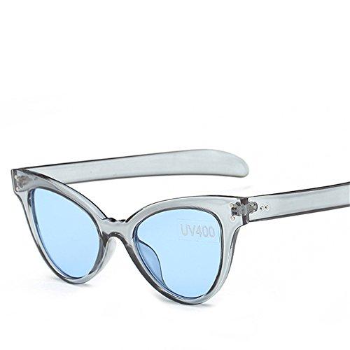 Personalidad Marco Sol Tendencia la RFVBNM Película Moda Gato de de Las Transparente la la Gafas Verde la Las Sol Europeas arropa La del azul transparente azul marco de Señora Gafas de de de Película Ojo Verde de xATq6USwx