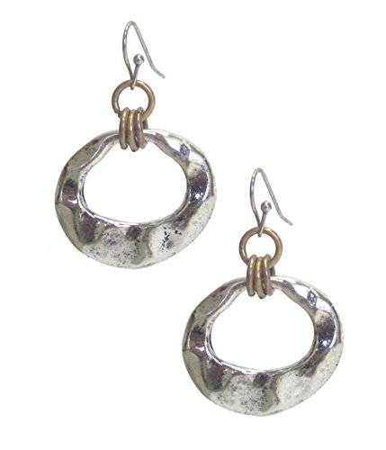 distressed-beaten-look-open-work-round-shaped-hammered-flattened-disk-silver-tone-earrings-1-1-2-lon