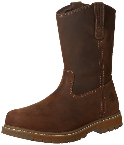 Muck Boot Leather Wellie Brown Mid High Waterproof Bone Dry Classic Boots M14 US