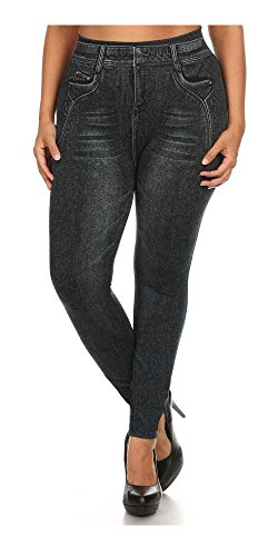 Women's Plus Size Basic Jeggings 2X/3X Sublimation Dark Denim (Maternity Jeans 26)