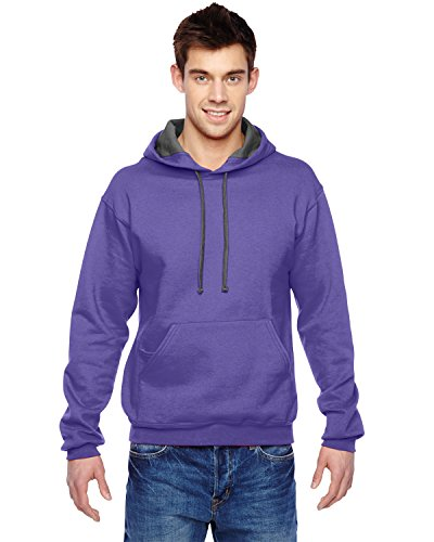 Fruit of the Loom 7.2 oz. Sofspun Hooded Sweatshirt, Small, (Fruits Of The Loom Sweater)