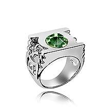 Crystal Green Lantern Ring,Green Lantern Jewlery,Ring Size 7.5 (Olive)