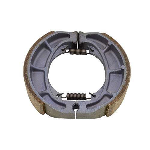 StoreDavid Motorcycle Rear Wheel Brake Shoe Drum Brake For Suzuki AN125 AN 125 125cc Spring Brake Replacement ()
