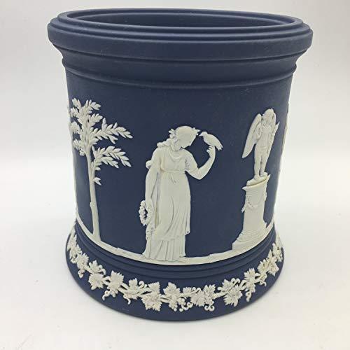 Wedgwood Large Dark Blue jasperware Jar
