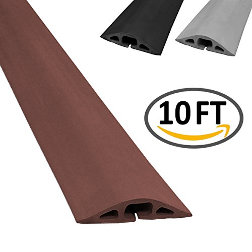 d 2 rubber duct cord cover length 10ft color brown cable protector. Black Bedroom Furniture Sets. Home Design Ideas