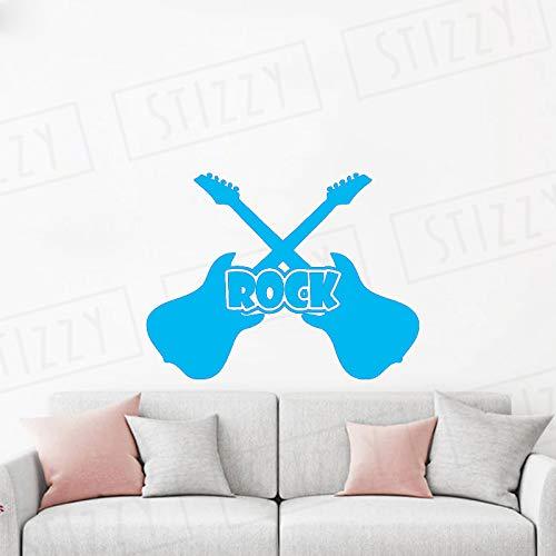 xingbuxin Tatuajes de Pared Patrón de Guitarra Rock Music Studio ...