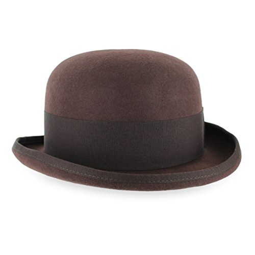 d8988f4785aa57 Belfry Tammany Men's Vintage Style Dress Fedora 100% Pure Wool Felt Derby  Bowler Hat in