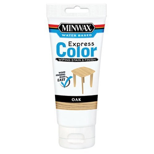 Minwax 30801 Water Based Express Color Wiping Stain and Finish, Oak by Minwax
