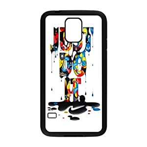 NIKE JUST DO IT Classic Design Print Black Case With Hard Shell Cover for SamSung Galaxy S5 by mcsharks