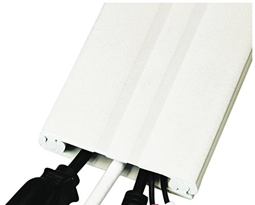 8-ft Cordline, 2-Way Cord Channel, Paintable White (Paintable Wall Cord Cover)