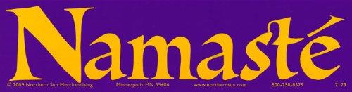 Namaste - Spirital Magnetic Bumper Sticker / Decal Magnet (11.5