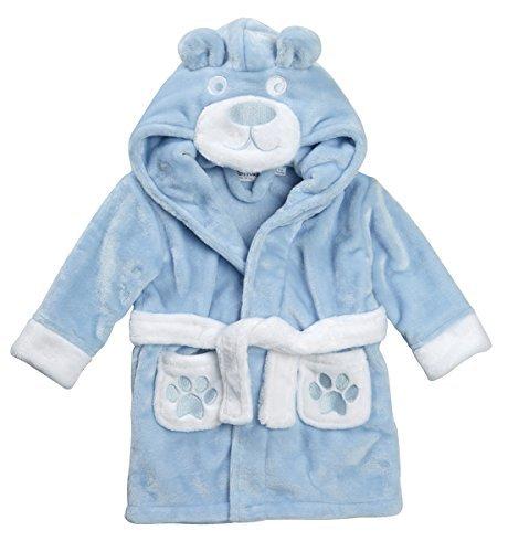 - Babytown Baby Boys Soft Teddy Bear Plush Dressing Robe