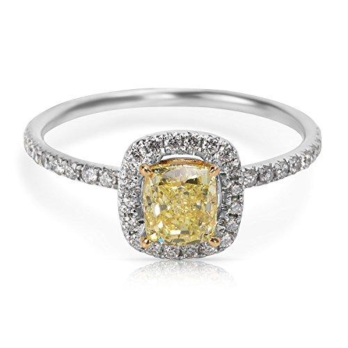 GIA Certified Fancy Intense Yellow Radiant Cut Diamond Engagement Ring (1.14 CTW - Fancy Yellow Radiant Cut Diamond