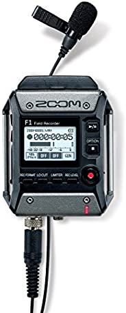 Zoom F1-LP Lavalier Body-Pack Recorder, Audio for Video Recorder, Records to SD Card, Battery Powered, Include