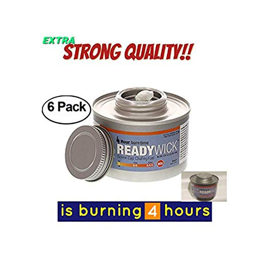 chafing fuel 4 hour,Chafing Gel Dish Fuel 6 Cans, Entertainment Cooking Fuel gel fuel cans, 4 hours cooking fuel cans, cooking fuel gel (6, 4 Hour) -