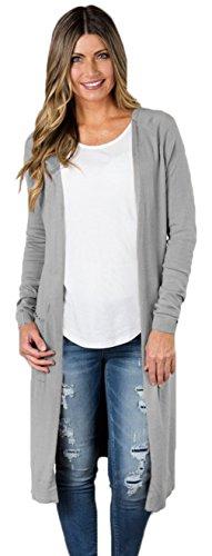 (ラボーグ)La Vogue レディース ロング カーディガン ニット コート 長袖 セーター ゆったり ジャケット アウター ケーブル編み 厚手 カジュアル