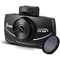 New 2017 DOD LS475W+, 3 Display CPL Filter, 1080P@60fps Dash Cam, Sony STARVIS, Super Night Vision, Parking Surveillance, GPS Logging and Traffic Camera Alert, Free 16GB micro SD card included