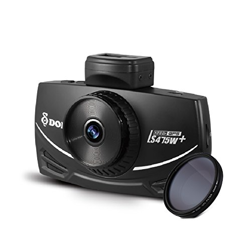 "New 2017 DOD LS475W+, 3"" Display CPL Filter, 1080P@60fps Dash Cam, Sony STARVIS, Super Night Vision, Parking Surveillance, GPS Logging and Traffic Camera Alert, Free 16GB micro SD card included"