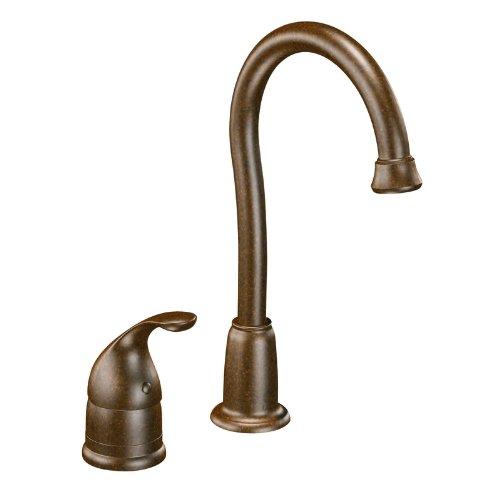 - Moen 4905ORB Camerist One-Handle High Arc Bar Faucet, Oil Rubbed Bronze