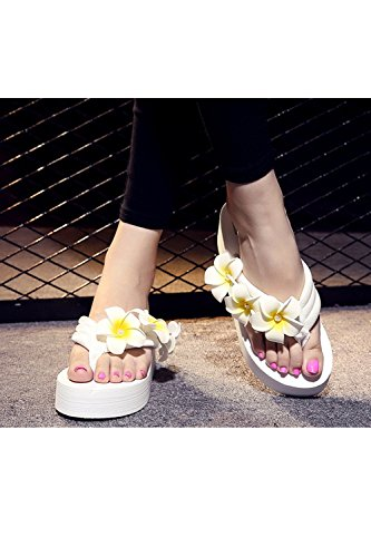 Beach White Sandals Flops Flip Women's Shoes Summer Beach YACUN Thongs q60PpP