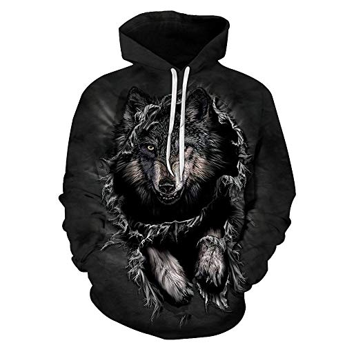 MVNTOO Satisfy U Galaxy Wolf Printed 3D Hoodies Men Hoodie Unisex Sweatshirts Autumn Pullover Tracksuits ETS,Large,Lms159