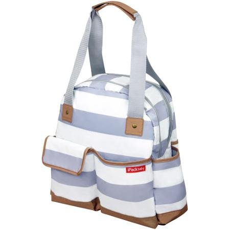 Ipack Baby Bowling Large and Roomy Baby Diaper Bag Tote, Gra