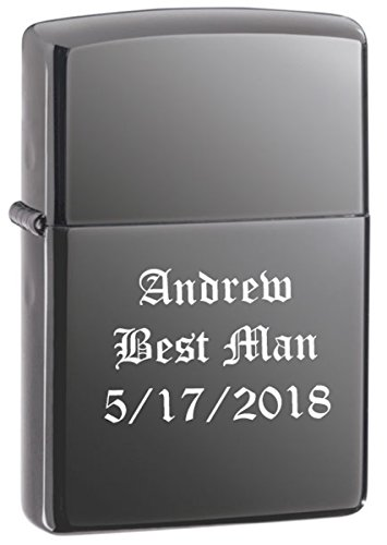 Personalized Zippo Black Ice Wind Proof Oil Lighter Free Engraving. (150)