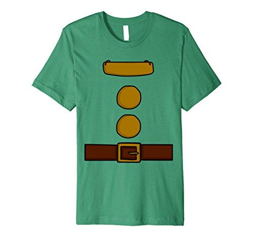 Funny Group Costume Ideas For Men (Mens Dwarf Halloween Group Costume Idea T-Shirt with name plaque XL Kelly Green)