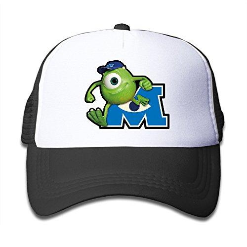 [Boys Girls Cute Monsters University Logo Baseball Caps Snapback Hip Hop Flat Hat] (Monsters University Hat)