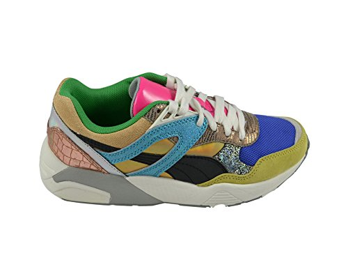 Puma green Bleu Femme Sheen whisper Baskets White Blue Pour gOwZgAr
