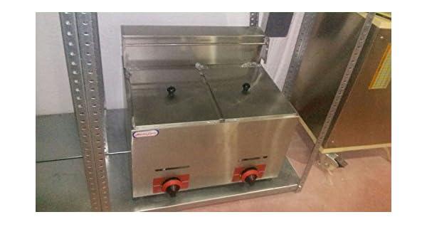 freidora industrial a gas para negocios de hosteleria 6+6 litros ...