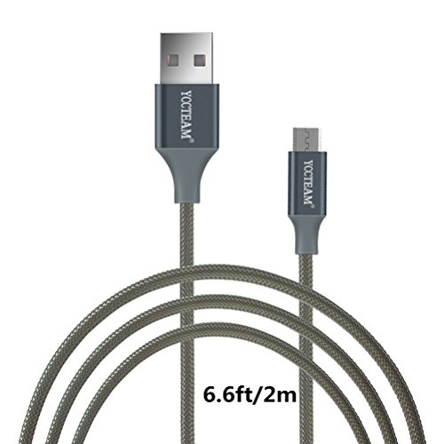 Micro USB Data Charging Cable ,YCCTEAM Premium 6 Feet USB 2.0 Sync Data Fast Charging Cable Cord For Samsung Galaxy S7/ S6 / Edge, S4/ S3/ Note 5 / 4 / 2,Google Nexus,LG,HTC,Nokia,Blackberry And More