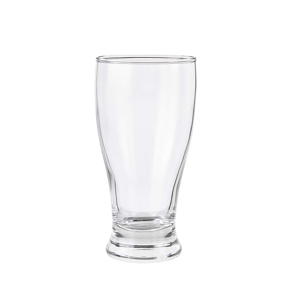 YONGMEI ワイングラス - 375mlガラスビールカップ6パック (色 : クリア) B07KF13KZR クリア