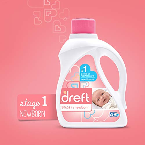 Large Product Image of Dreft Stage 1: Newborn Hypoallergenic Liquid Baby Laundry Detergent (HE), Natural for Baby, Newborn, or Infant, 50 Ounce (32 loads), 2 Count (Packaging May Vary)