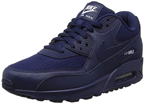 Nike AJ1285-404: Men's Air Max 90 Essential Midnight Navy/White Sneaker (8 D(M) US - Flights Signature Fit