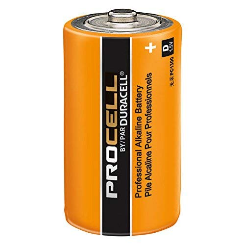 Duracell PC1300 1.5V D12 Procell Alkaline-Manganese Dioxide Battery, 12 Count (Pack of 1) - Packaging May Vary
