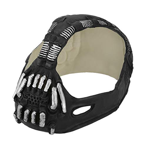 Universal Bane Mask Batman Cosplay Helmet 3D Bane Latex Mask With Voice Changer Halloween Costume Accessories For Party -