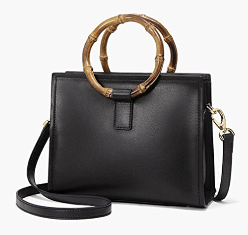 Handle Bag Black Top Satchel Handbags Bag Shoulder Lady Lightweight Messenger Casual B75qxv