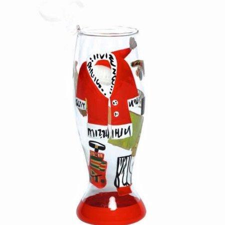 Lolita Holiday 2011, Mini-Pilsner Ornament, Hot Daddy Claus - Wine Martini New Love ORN6-5545B (Glass Lolita Wine Ornament)