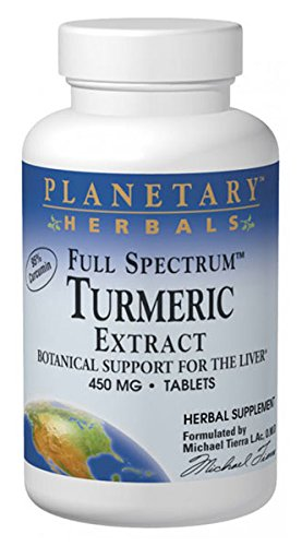 Planetary Herbals Full Spectrum Turmeric Extract Tablets, 450 mg, 60 Count ()