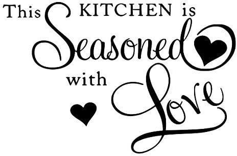Farmhouse Kitchen Decals This Kitchen Is Seasoned With Love Vinyl Decal