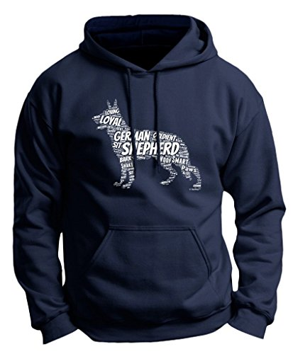 Dog Clothes German Shepherd Word Art Dog Puppy Owner Gift Premium Hoodie Sweatshirt Small Navy -