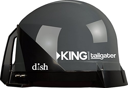 KING VQ4500 Tailgater Portable/Roof Mountable Satellite TV Antenna (for use with DISH) by KING