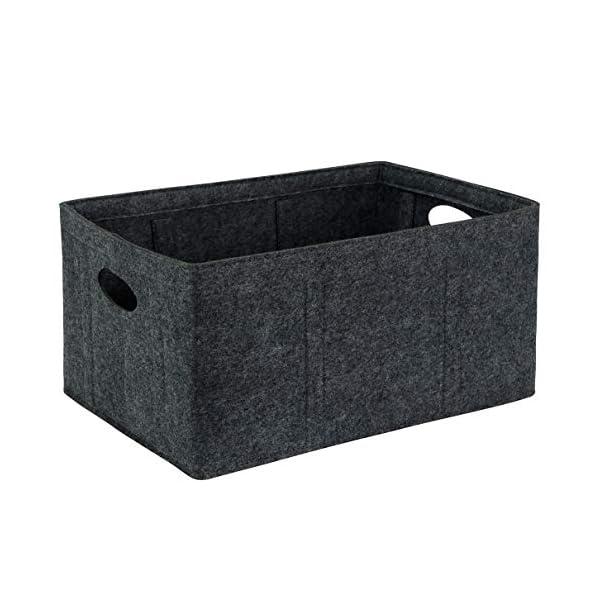 Foldable Storage Bins Collapsible Felt Storage Basket Cube Large Shelf Basket with Handles for Organizing Kids Toys Blanket Towels Books Magazines Nursery Basket Home Closet Organizer