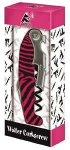 Cork Pops At Your Service Waiters Corkscrew, Zebra Design
