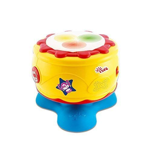 - ISEE Baby Toys 6 to 12 Months | Infant Bongo Drum Musical Activity | 1 Year Old Girl Gifts | Educational Music Light-Up Sounds Help Develop Motor Skills