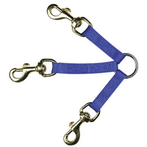 Guardian Gear 12-Inch Nylon 3-Way Medium Dog Coupler with Nickel Plated Swivel Clip, Blue, My Pet Supplies