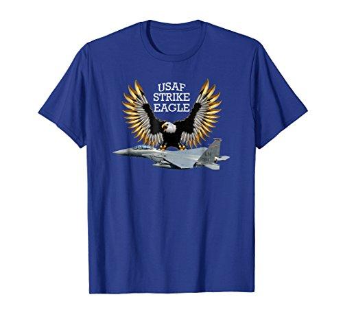 Mens AIR FORCE F-15 STRIKE EAGLE T-SHIRT Large Royal (100 F15 Eagle)